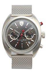 Scuderia Ferrari 'Formula Sportiva' Chronograph Mesh Strap Watch, 43mm