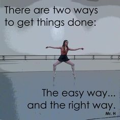 Two ways to get things done
