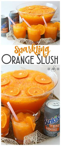 Sparkling Orange Slush - Butter With A Side of Bread #ad #BrighTENtheSeason