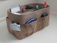 Hey, I found this really awesome Etsy listing at http://www.etsy.com/listing/154876262/purse-organizer-leopard-and-khaki-tan