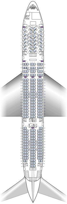 Air New Zealand 777-200ER seating plan October 2013
