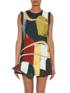 Toga Colour-block jacquard mini dress