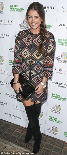 Cute look: Brooke Vincent, 23, attended a charity dinner for The Royal Marsden and Macmill...