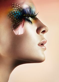 long lashes; feathers #hair #beauty #makeup