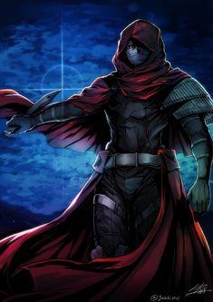 Assassin~Fate/Grand Order by Yusuki Fate Characters, Fantasy Characters, Fate Assassin, Neko, Eyes Game, Arte Ninja, Shirou Emiya, Dark Anime Guys, Fate Servants