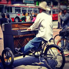 Piano bike street performer https://play.google.com/store/music/artist?id=Aoxq3iz645k55co23w4khahhmxy&feature=search_result