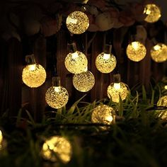 Goodia Battery Operated 10.49Ft 30er Silver Moroccan LED Globe String Lights for Indoor,Bedroom,Curtain,Patio,Lawn,Landscape,Fairy Garden,Home,Wedding,Holiday,Christmas Tree,Party (Warm White)
