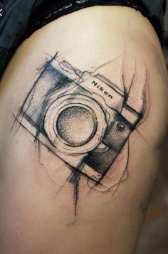 Camera Tattoo Idea                                                                                                                                                     More