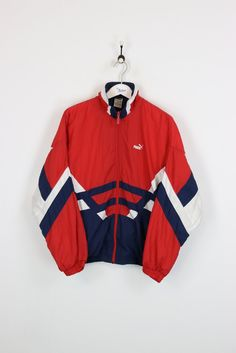 Puma Shell Suit Jacket Red XL