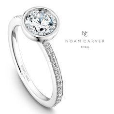 Noam Carver engagement ring for all around modern bride.  See more here: http://noamcarver.com/collections.asp