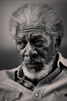 Morgan Freeman (°1937) - American actor, film director, and narrator. Photo by Lance Dawes