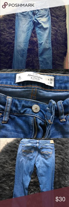 Abercrombie Super Skinny Jean Abercrombie & Fitch Super Skinny jean, size 6L and in a medium wash 🙂 super soft and lots of stretch to them. Great condition! Abercrombie & Fitch Jeans Skinny