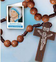 St Teresa of Calcutta Rosary Beads. Saint Teresa Of Calcutta, Virgin Mary Statue, Catholic Gifts, Rosary Beads, Mother Teresa, All Gifts, Mother Gifts, Saints, Candles