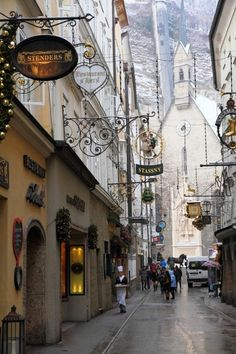 Salzburg, Austria--I have been on this street, it is absolutely beautiful!