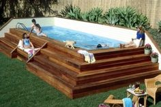 Great idea for above ground pool!