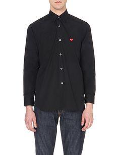 COMME DES GARCONS PLAY Logo-detail cotton shirt