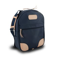 Large Back Pack | Jon Hart --> coated canvas/purple or red/all natural leather trim/VKH
