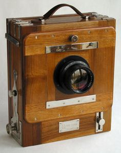 "Vintage wood cameras | Vintage Russian FKD 13x18 cm (5x7"") Folding Wooden Camera"