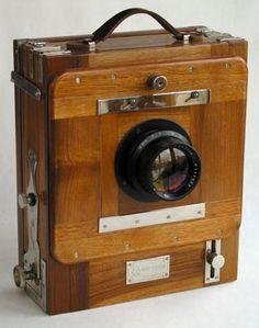 "Vintage wood cameras | Vintage Russian FKD 13x18 cm (5x7"") Folding Wooden Camera"