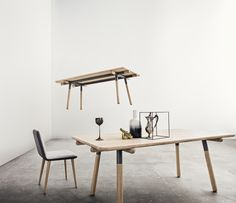 """""""Vey""""  Dining table in solid oak and powder coated steel. Designed for Bolia.com"""