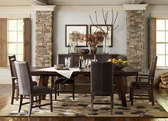 Draw #autumn inspiration from #havertys Arden Ridge Dining Room.