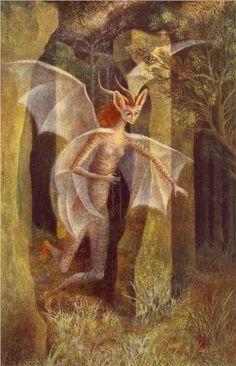 """Character"" by Remedios Varo (1908-1963) via Wikipaintings."