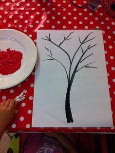 Une activités pour les enfants de la classe de maternelle. faire un arbre style Japonais avec des fleurs réalisées grace à des cotons tiges. pas mal l'idée.