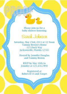 72 best rubber duck baby shower images on pinterest rubber ducky adorable rubber ducky custom baby shower invitation filmwisefo