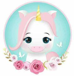 Unicórnio Baby Unicorn, Unicorn Gifts, Cute Unicorn, Unicorn Drawing, Unicorn Art, Baby Animal Drawings, Cute Drawings, Hello Kitty Drawing, Unicorn Quotes