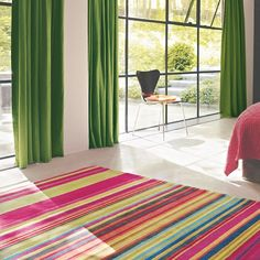 Xian Fresh rugs made with a high quality 100% Japanese acrylic pile, using only the finest materials clean and vibrant colours are achieved. Xian rugs are handmade and the detailing is carved by hand to add extra definition. #StripedRug #HandmadeRug #InteriorDesign