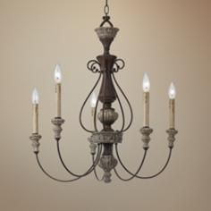 """Williams Collection 27"""" Wide Rust Chandelier"""