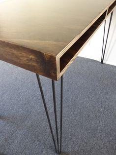 Plywood Mid-Century Modern Office Desk by GabrielAbregoDesign