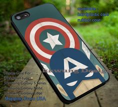 Captain America and Shell Vintage case/cover for iPhone 4/4s/5/5c/6/6 /6s/6s  Samsung Galaxy S4/S5/S6/Edge/Edge  NOTE 3/4/5 #cartoon #disney #animated  #marvel #comic #movie ii
