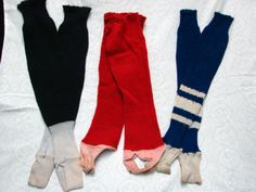 3 Pair 1940s 50s Vintage Wool Cotton Baseball Socks Stockings | eBay
