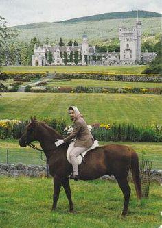 Queen Elizabeth horseback riding at Balmoral