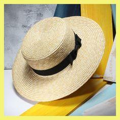 Unisex Summer Straw Hats Women Wide Brim Flat Top Beach Sunhat Sombreros Mujer Men's Boater Hat Chapeu Masculino