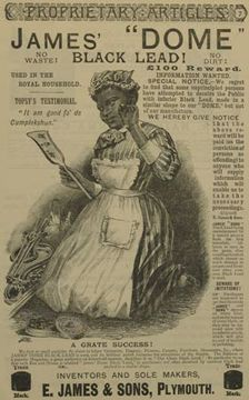 In the late 19th century manufacturers used images of Black people extensively in advertisements. In particular soap, starch, boot and grate polish or any other commodity where the issue of black and white and cleanliness came to the fore and the theme of color could be exploited.