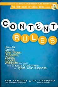 Great book for bloggers. Content Rules By Anne Handley & C.C. Chapman Review