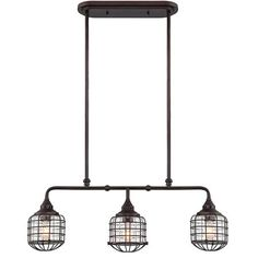 Rustic Loft Cage Island Chandelier for over island