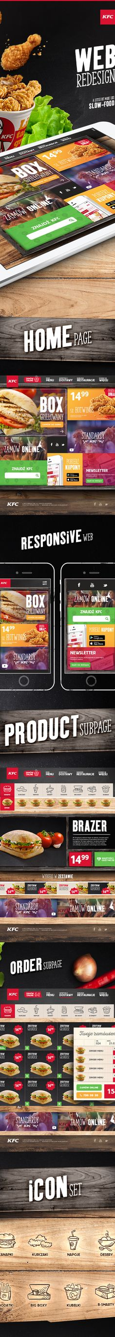 KFC - Website redesign on Behance
