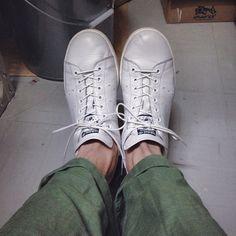 〆  個人的に一番かっこいいスタンスミスの履き方✨  #adidas #stansmith #スタンスミス #orslow #足元倶楽部