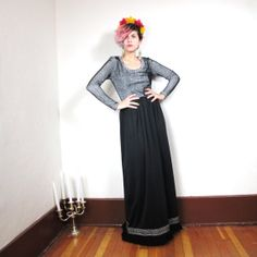 S A L E 70s Daymor Couture Silver Futurist Formal by honeymoonmuse, $85.00