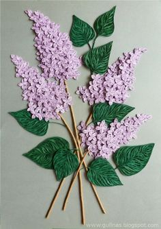 Quilled lilacs-my favorite flower!