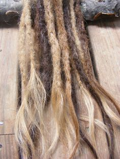15 Sun Kissed Browns Crocheted Synthetic Dreads Permanent dreadlock extensions. Beach/surfer/mermaid/bohemian dreads