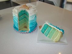 Hostess with the Mostess® - Under the Sea Birthday Party---Love the idea of the ombre blue for Gabe's octonauts cake