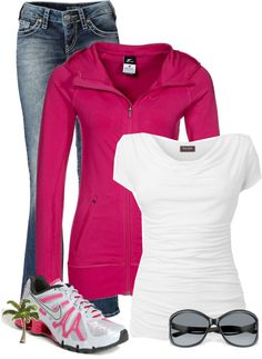 """Nike Casual"" - This whole outfit is so me! Look Fashion, Autumn Fashion, Fashion Outfits, Womens Fashion, Diva Fashion, Nike Free 3.0, Mode Swag, Casual Outfits, Cute Outfits"