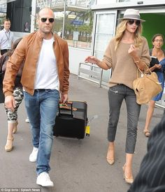 airport travel her and him fashion