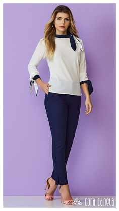 LOOK BOOK 1 – Cora Canela Girls Wardrobe, Work Wardrobe, Business Casual Outfits, Classy Outfits, Blouse Styles, Blouse Designs, Work Casual, Casual Looks, Muslim Fashion