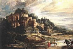Peter Paul Rubens : Landscape with the Ruins of Mount Palatine in Rome (Louvre) ピーテル・パウル・ルーベンス Peter Paul Rubens, Renoir, Rome Painting, Rubens Paintings, Art Paintings, Baroque Art, Oil Painting Reproductions, Oeuvre D'art, Landscape Paintings