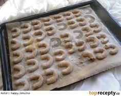 Špaldové vanilkové rohlíčky